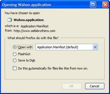 Opening Wahoo.application