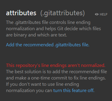 GitHub for Windows offers to normalize the repository's line endings