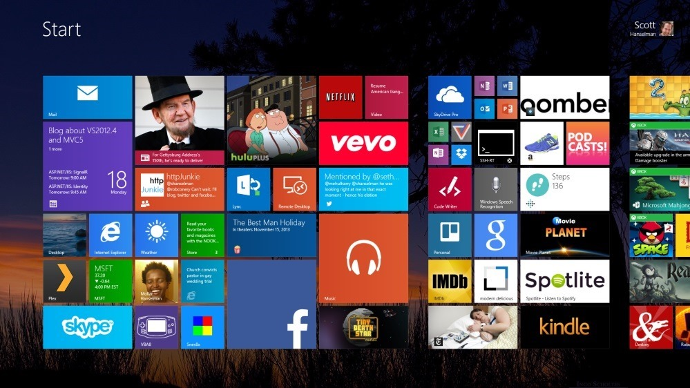 Show more tiles and run more apps on a Microsoft Surface 2