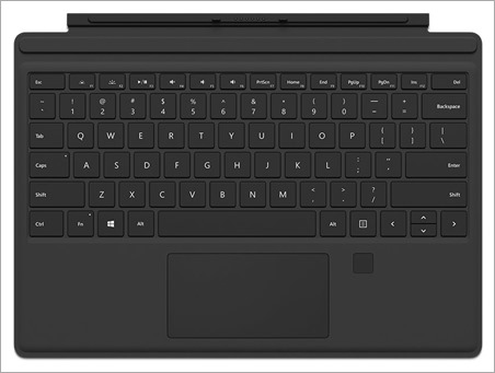 Using the Surface Pro 4 Type Cover with Fingerprint Reader on a Surface Pro 3