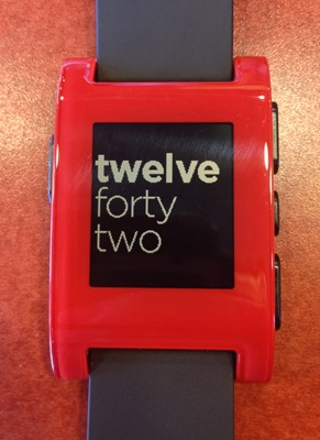 The Pebble shows fingerprints, but looks great, if a little plasticky
