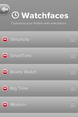 Selecting Watch faces