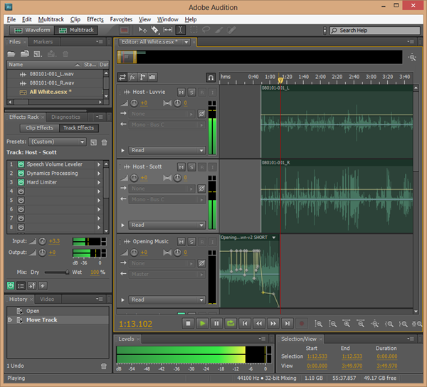 Editing in Adobe Audition