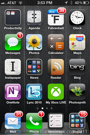 My iOS Home Screen