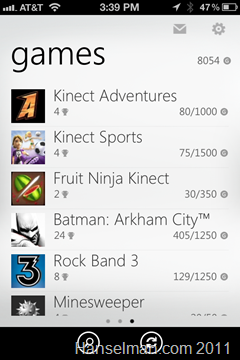 Xbox Achievements on iPhone
