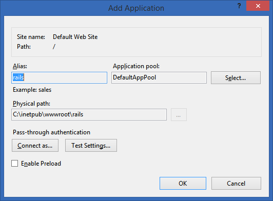 My Rails application in IIS