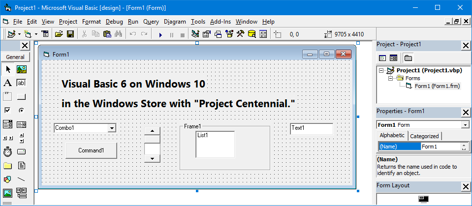 Visual Basic 6 on Windows 10