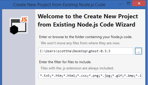 Create from Existing Code