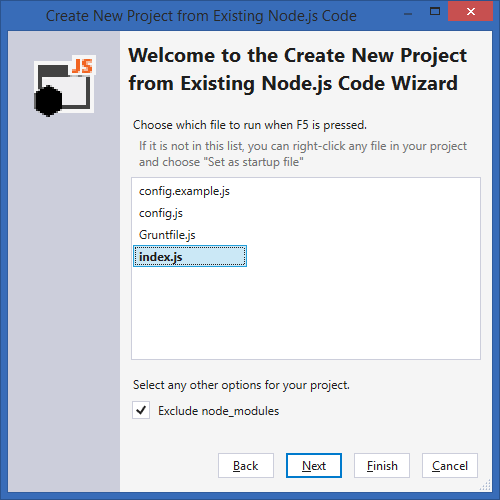 Create New Project from Existing Code