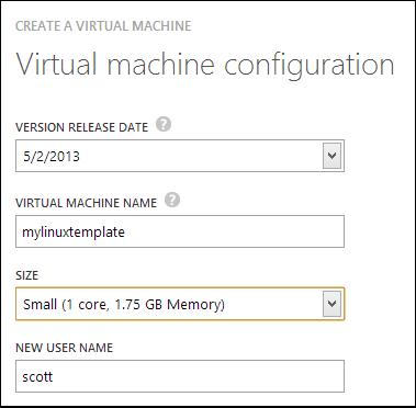Creating a VM