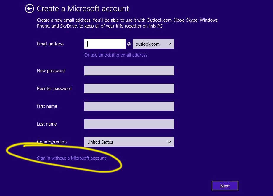 How to sign into Windows 8 or 8.1 without a Microsoft account ...