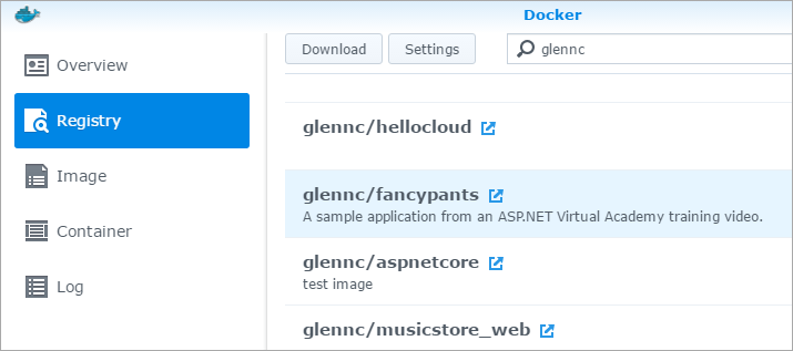 Docker on Synology - Node and ASP.NET Core Apps