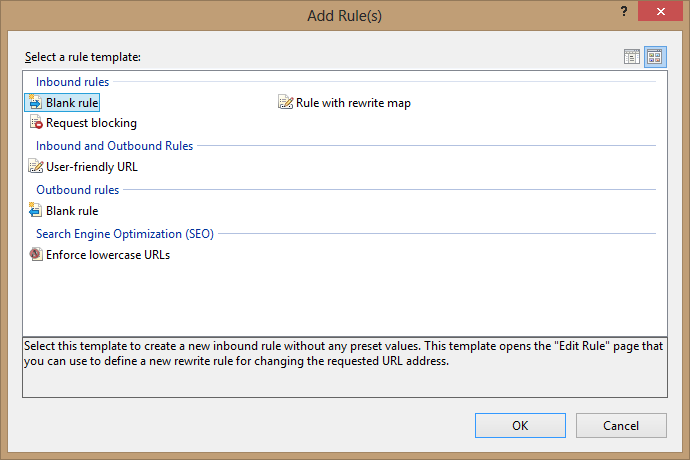 URL Rewrite module in IIS