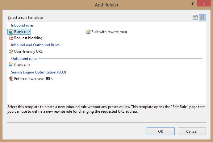 URL Rewrite module in IIS