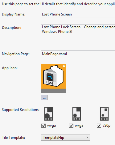 Windows Phone 8 supports three resolutions