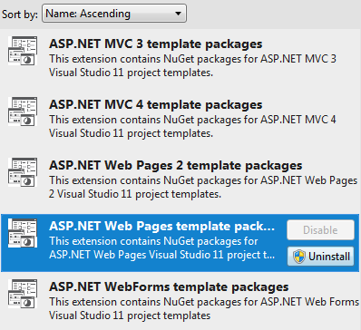 ASP.NET Templates are extensions now