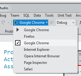Browser Switcher built into the toolbar