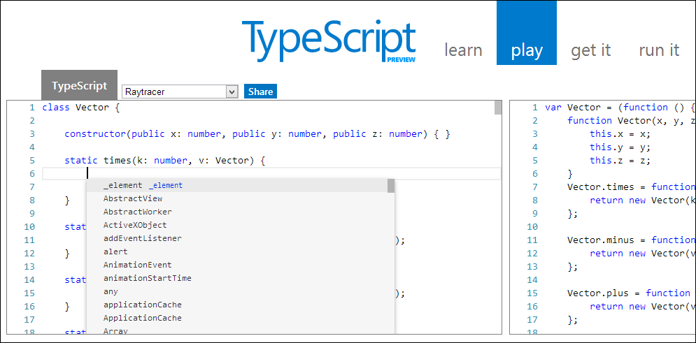 The TypeScript Playground