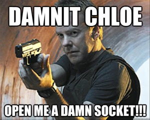 Chloe Open a Socket