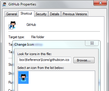 Checking a folder's icon