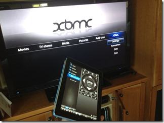 Using my iPad as a Raspbmc XBMC remote control