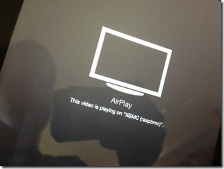 My iOS device says it&#39;s throwing video at the Raspbmc