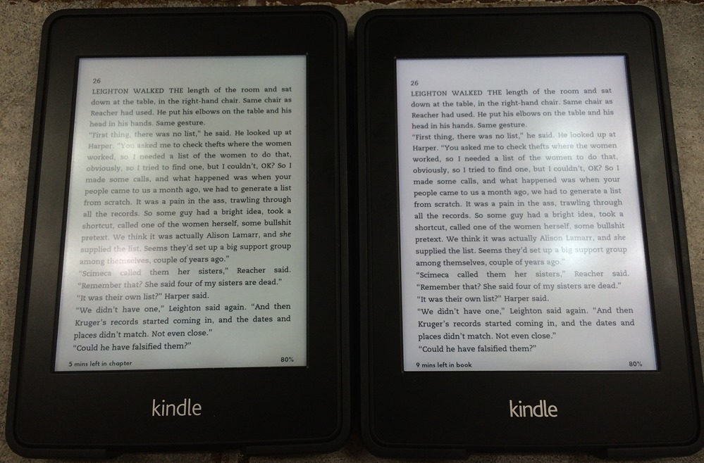 amazon kindle paperwhite comparison