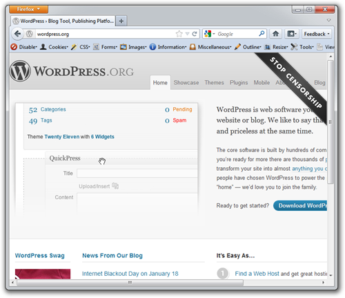 WordPress No JS