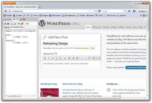 WordPress SOPA floats a giant DIV