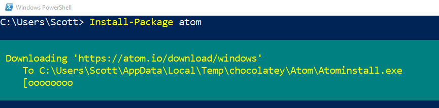 Installing applications in Windows 10 from the command line