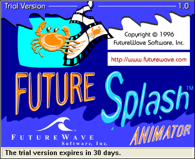 FutureSplash Animator, ahem, Splash Screen