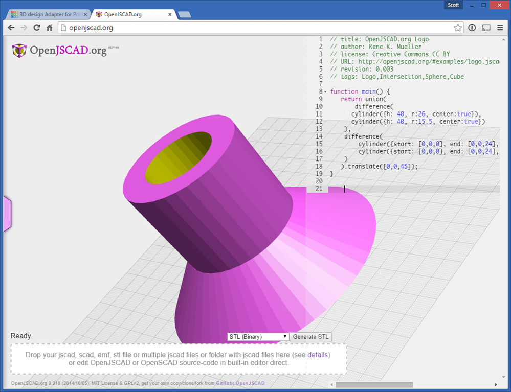 Creating Exact 3d Models For 3d Printing With Javascript