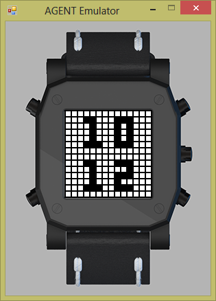 PixelFace example Watch for AGENT Smart Watch