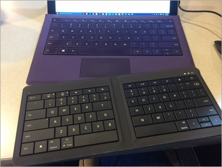 Microsoft Universal Foldable Keyboard - Compared to Surface