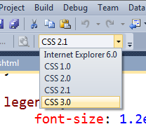 CSS3 in the dropdown
