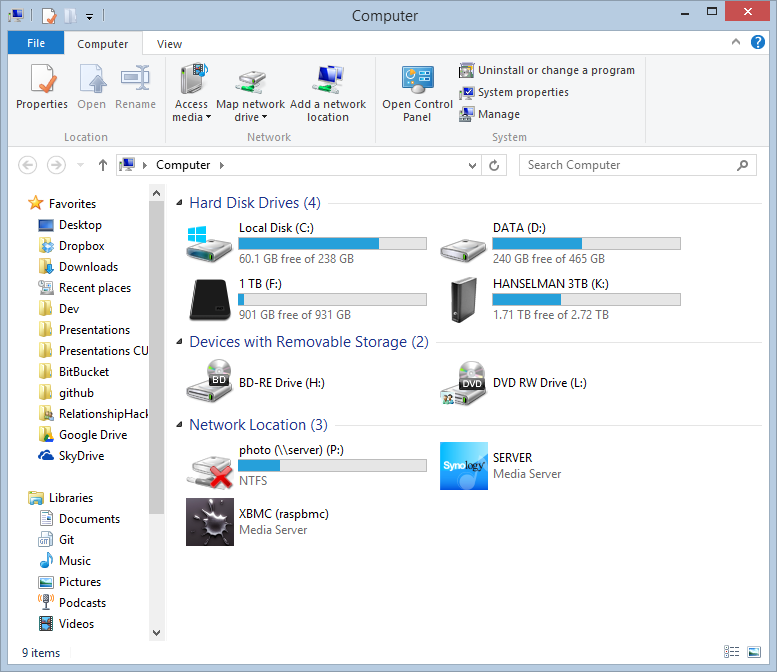 Windows 8 Ribbon in Explorer