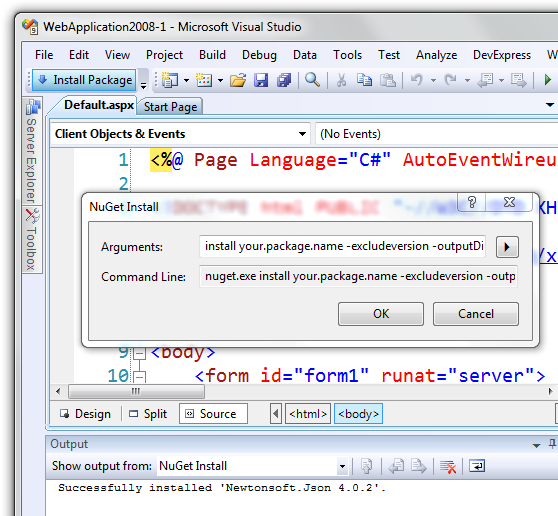 NuGet in Visual Studio 2008