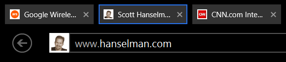 IE11 Fullscreen can show open tabs now