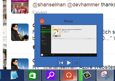 Windows Store apps can modify the jump menu
