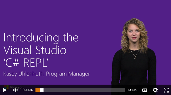 Introducing the Visual Studio 'C# REPL'