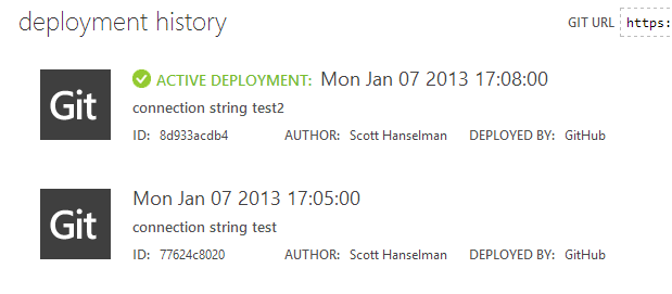 Git Deployments from GitHub directly into Azure