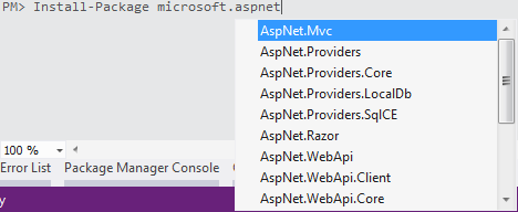 Microsoft.AspNet. intellisense