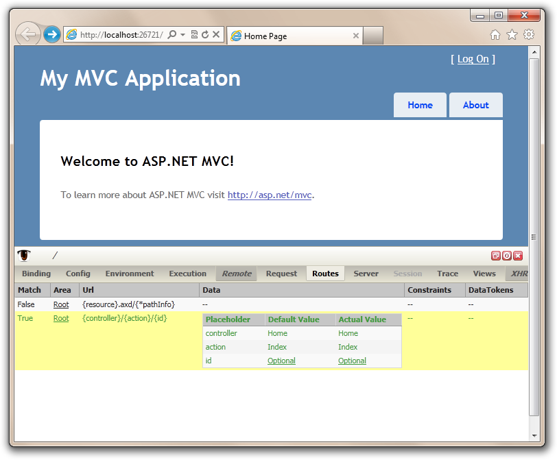 Nuget package of the week 5 debugging asp net mvc for Windows home page