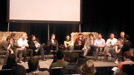 A large panel of 12 apparently white men at SXSW - Photo via Jay Smooth from http://jsmooth995.lightbox.com/