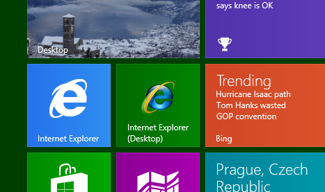 Both IE10 metro and IE10 Desktop are both pinned to my Start Menu
