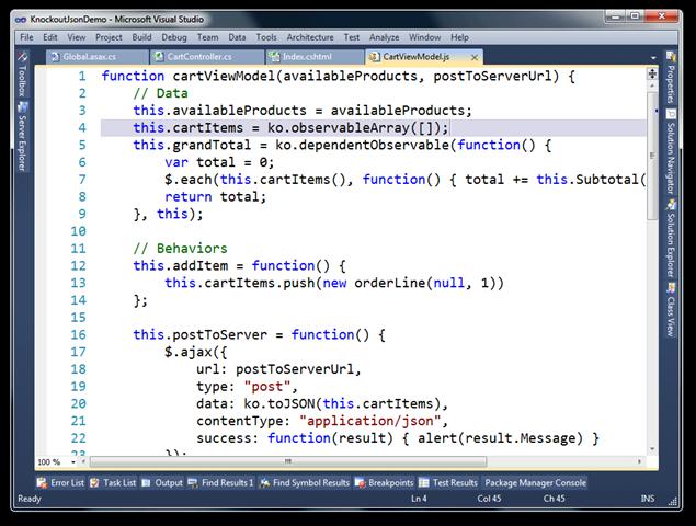 KnockoutJsonDemo - Microsoft Visual Studio (29)