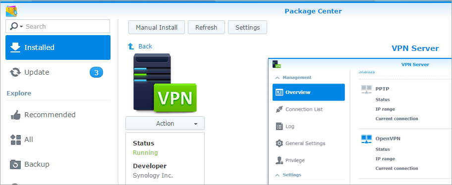 Adding VPN Server on Synology