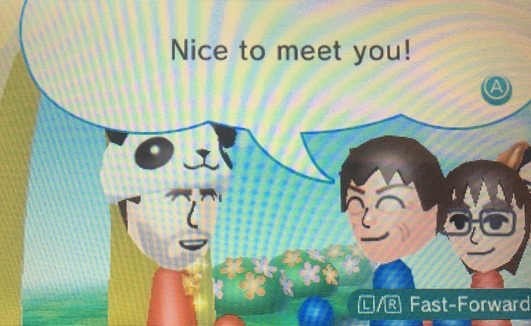 Nice to meet you! says my Mii