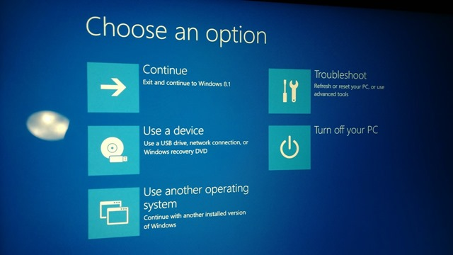 Windows 8.1 Boot Menu