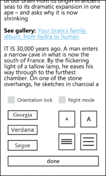 Instapaper for Windows Phone